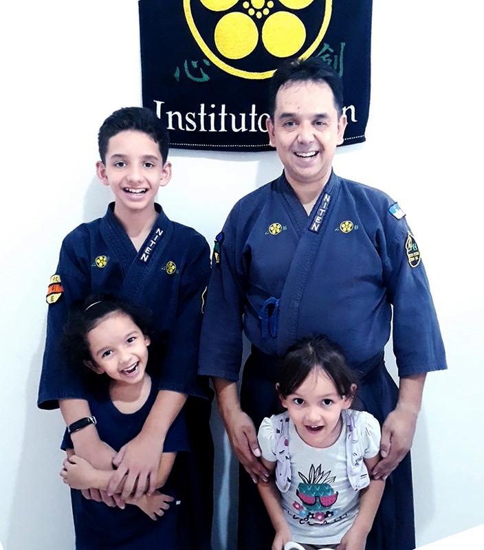 Franco, Renan e família após o treino com muita energia!
