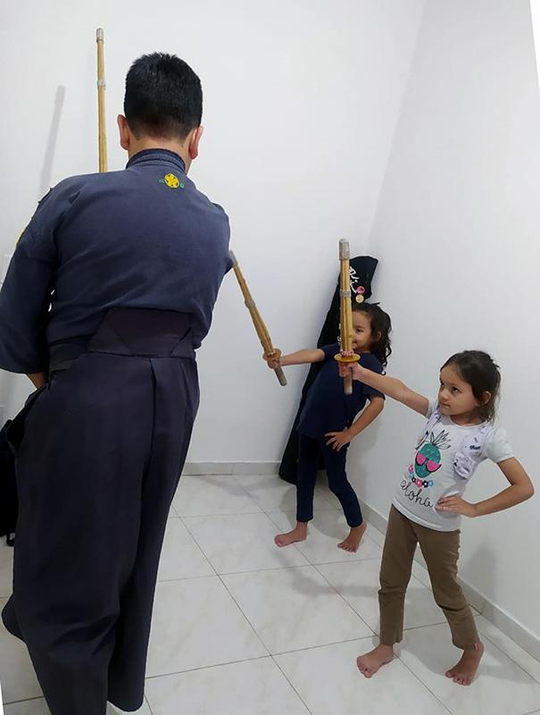 Franco treinando com a família