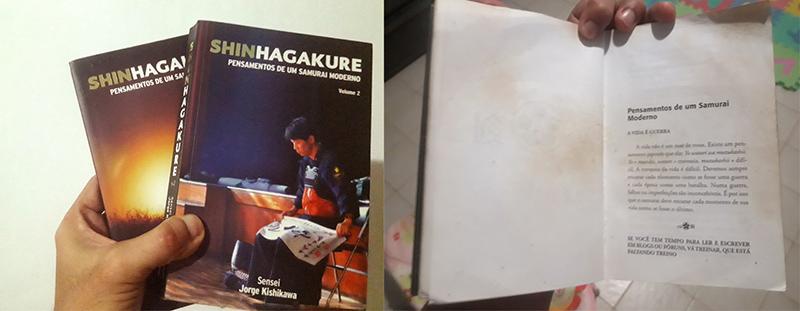 Imagem do livro Shin Hagakure, escrito pelo Sensei Jorge Kishikawa