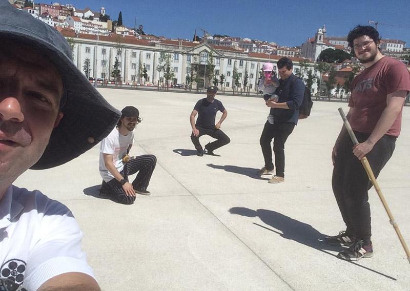 Selfie dos alunos de Lisboa após o treino
